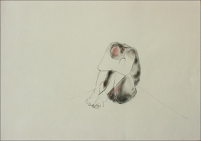 Drawing-Crouching Man