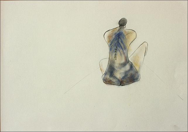 Drawing-Man Back View