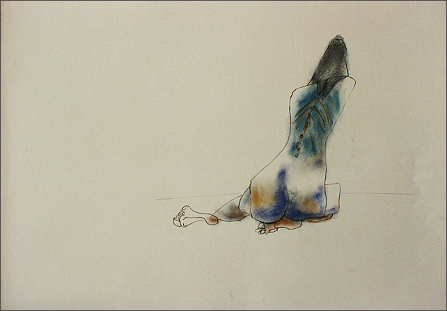 Drawing-Woman Back View